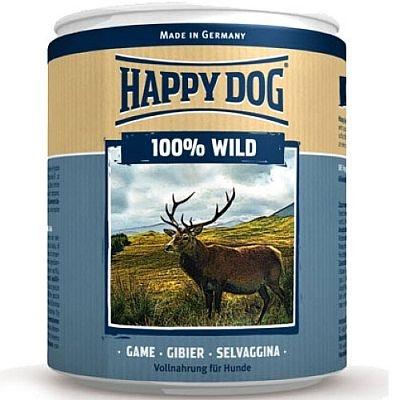 HAPPY DOG - Хеппи Дог Консервы для собак 100% мясо Дичи 400 гр