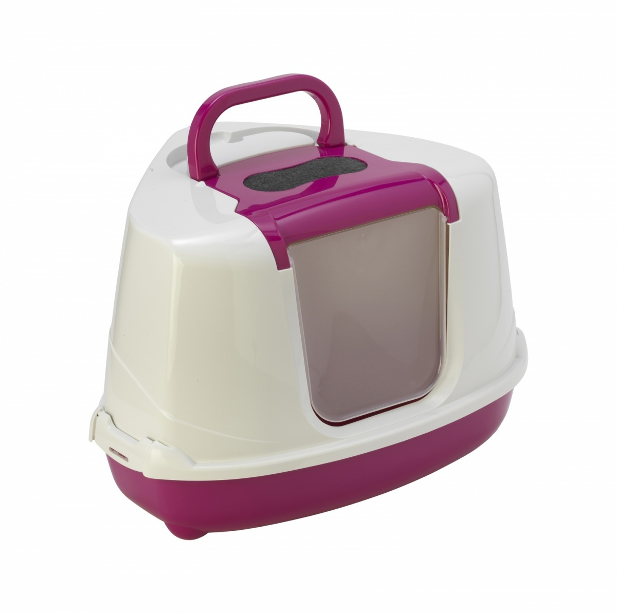 24646/ С 250-328 MODERNA Flip Туалет-домик для кошек 55х45х38 см розовый угловой