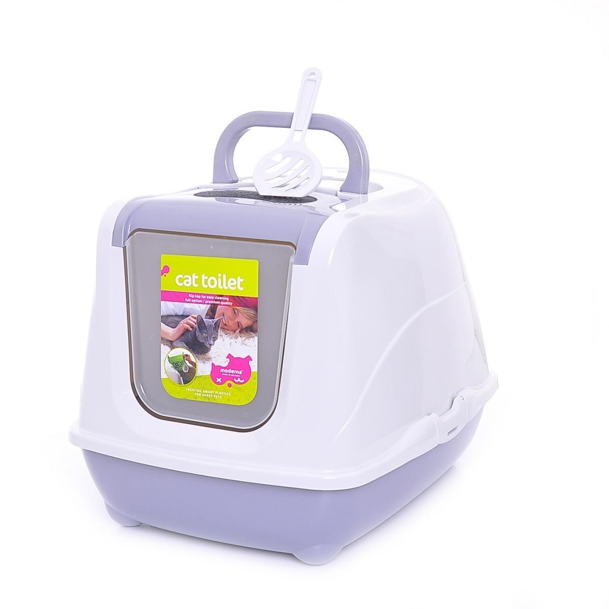 24644/C 230-330 MODERNA Flip Cat Large Туалет-домик для кошек 50Х39Х37 см теплый серый