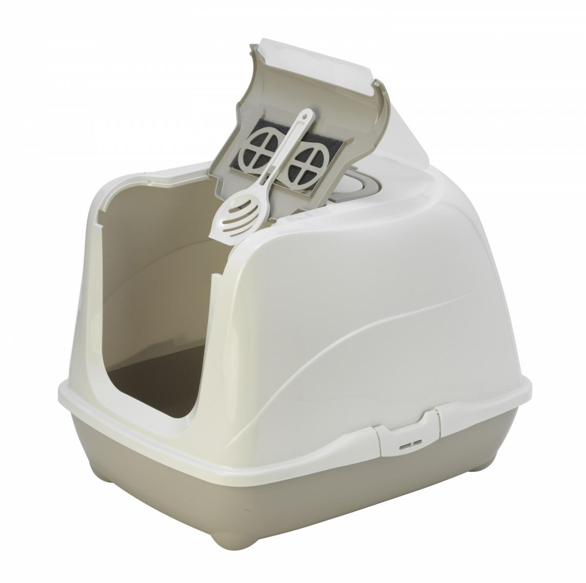 24645/C240-330 MODERNA Туалет-домик Jumbo с угольным фильтром 57х44х41 см теплый серый
