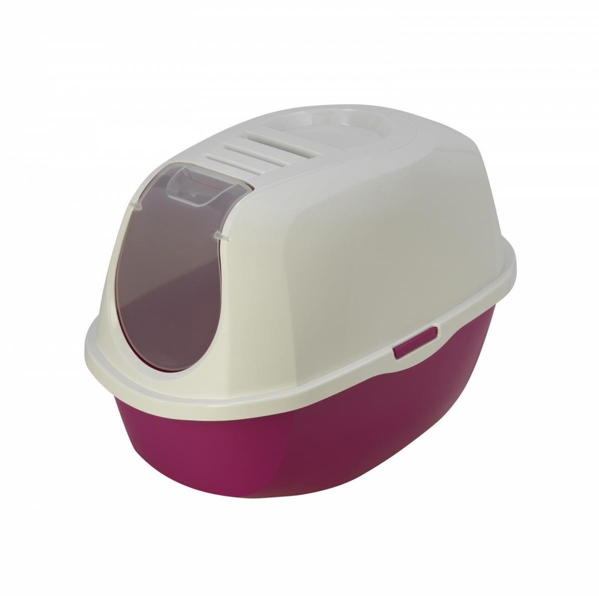 24647/C 370-328 MODERNA Smart Cat Туалет-домик для кошек 54х40х41 розовый