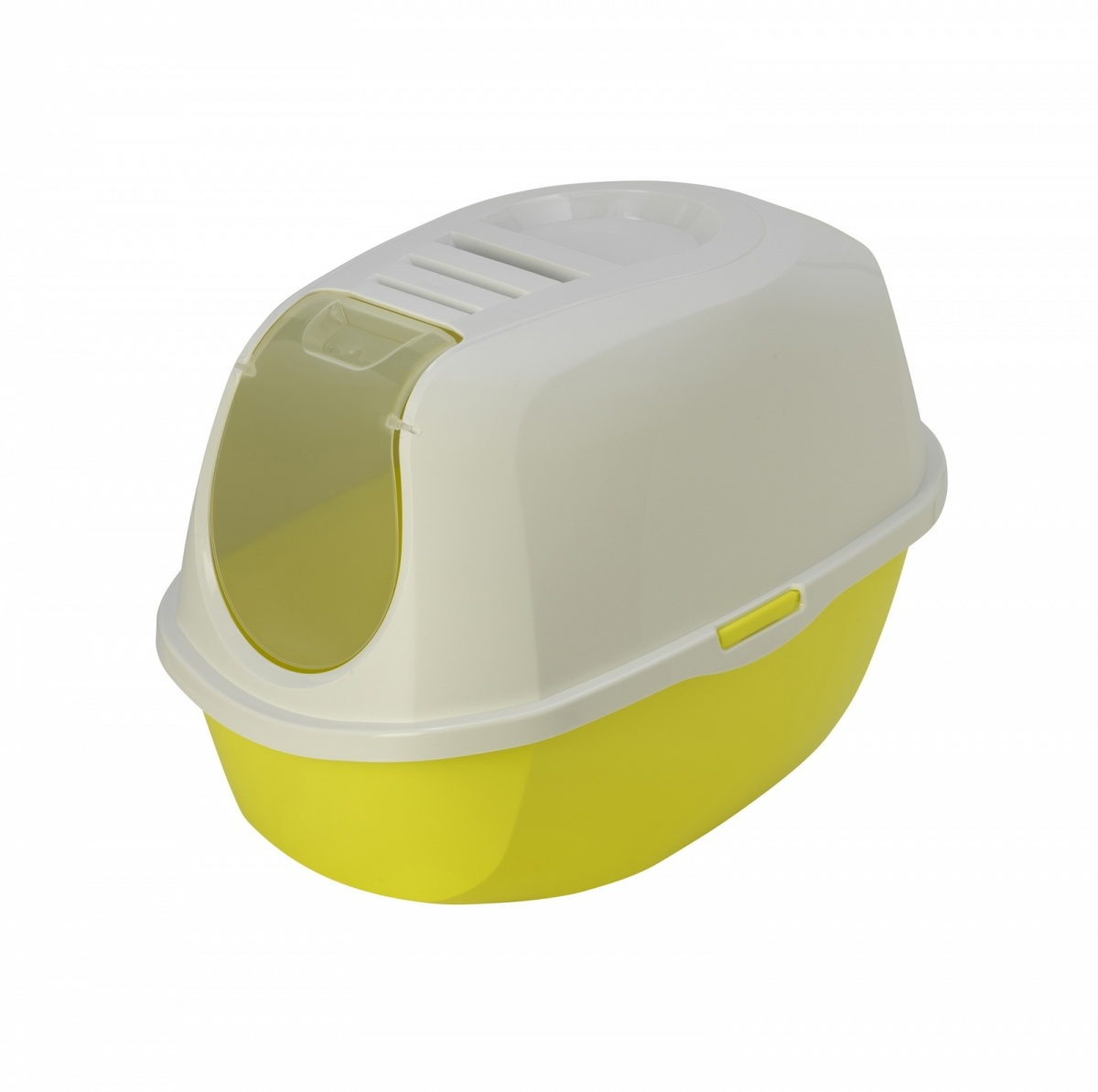 24647 /С-370-173 MODERNA Туалет-домик SmartCat с угольным фильтром, 54х40х41 см лимонный