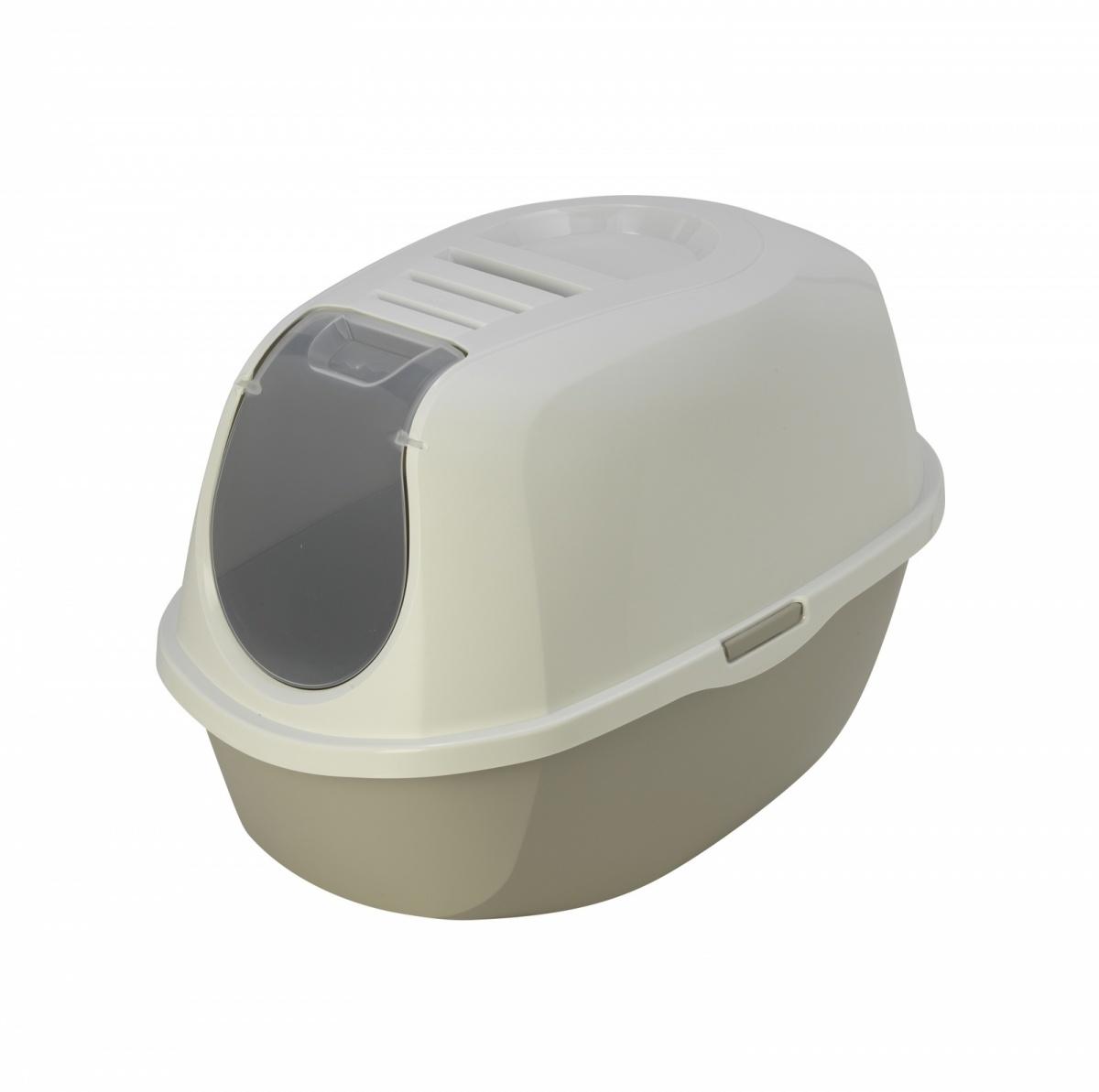24647/C 370-33 MODERNA Smart Cat  Туалет-домик для кошек 54х40х41 см теплый серый