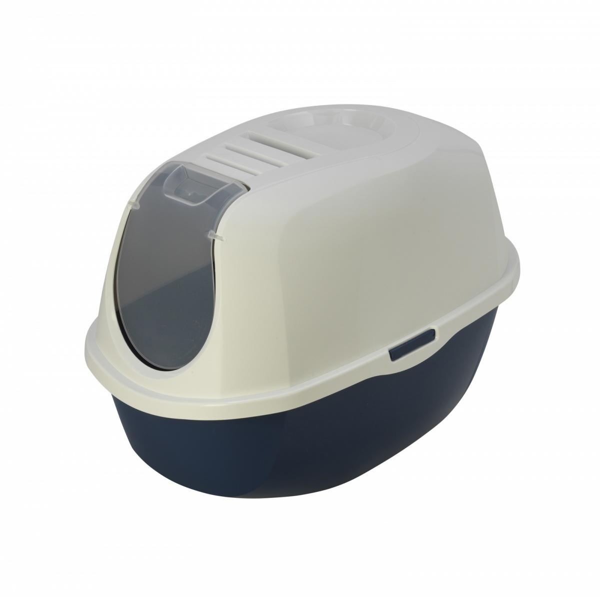 24647/C 370-331 MODERNA Smart Cat  Туалет-домик для кошек 54х40х41 см черничный