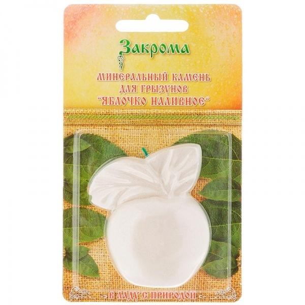 ЗАКРОМА Камень минеральный для грызунов с яблоком 20 гр