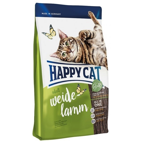 Happy Cat Supreme Adult Weide Lamm - Хеппи Кет корм для взрослых кошек с ягненком 10кг