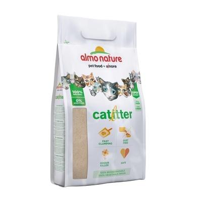 Almo Nature Cat Litter 100% Натуральный биоразлагаемый комкующийся наполнитель 2,27 кг