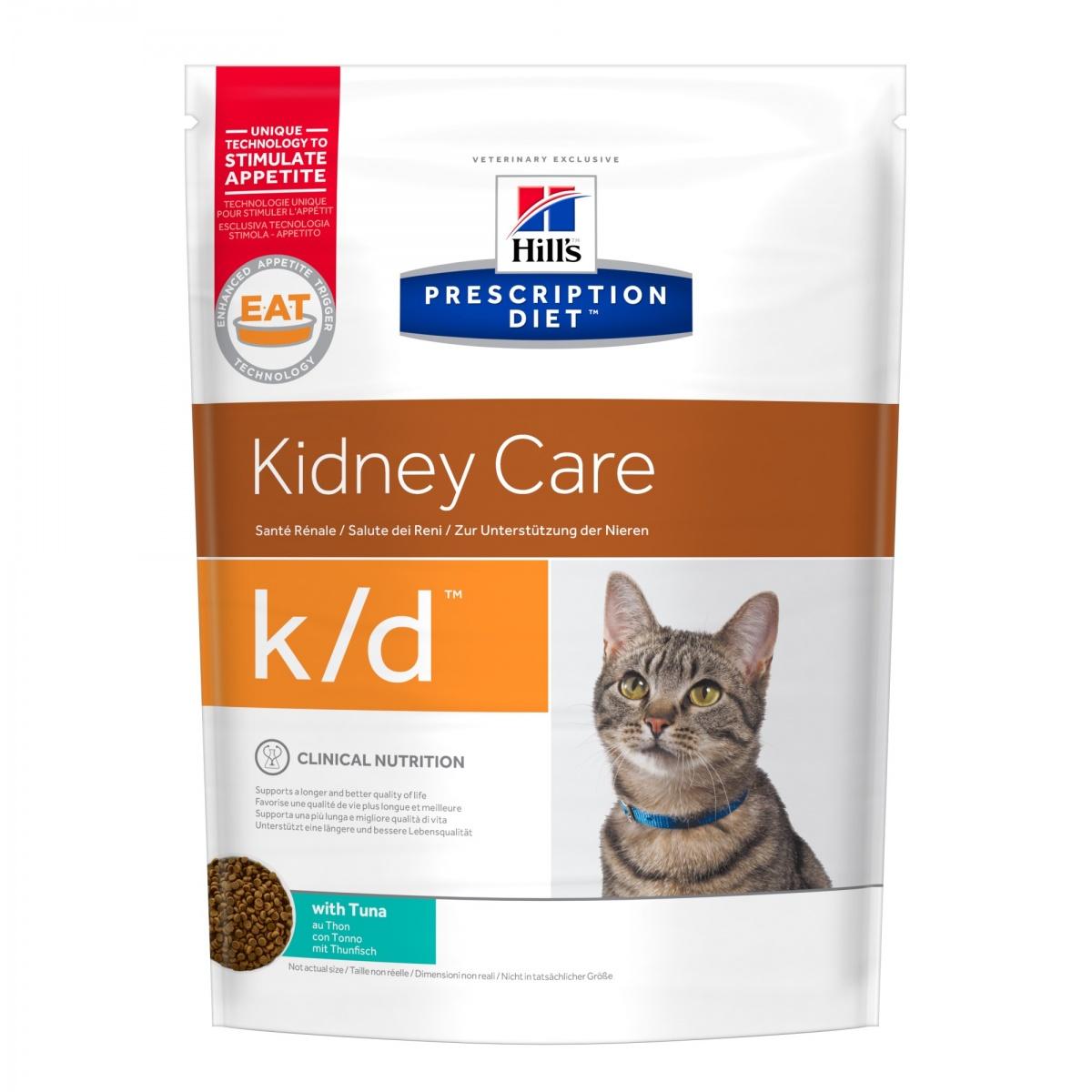 Хиллс Диета Корм для кошек K/D лечение заболеваний почек тунец