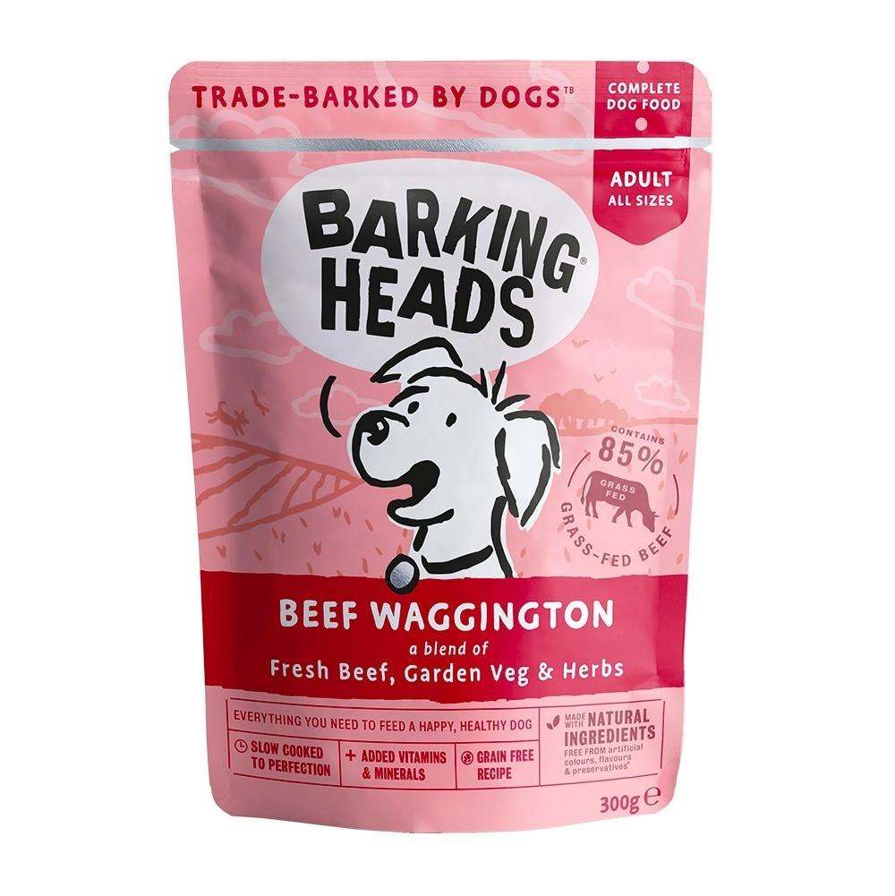 """Barking Heads Паучи для собак с говядиной """"Вуф-строганов"""" 300 гр"""