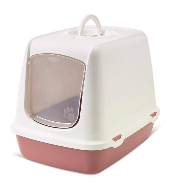Savic S0265 Туалет-домик для кошек OSKAR фуксия Earth Collection 50*37*39 см