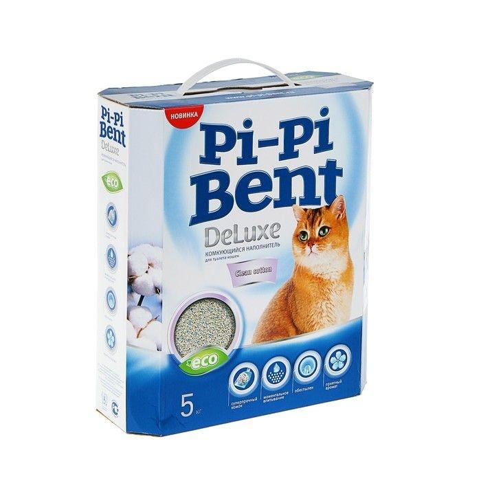Pi-Pi Bent DeLuxe Clean cotton комкующийся 5 кг