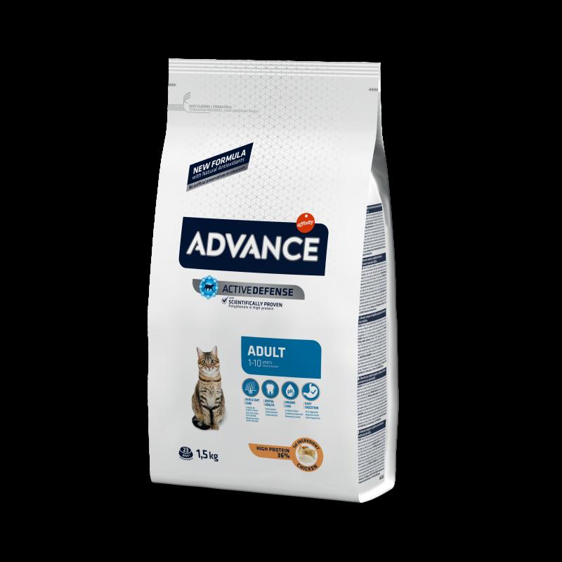Advance Adult Chicken & Rice - Адванс корм для кошек взрослых курица с рисом 15кг