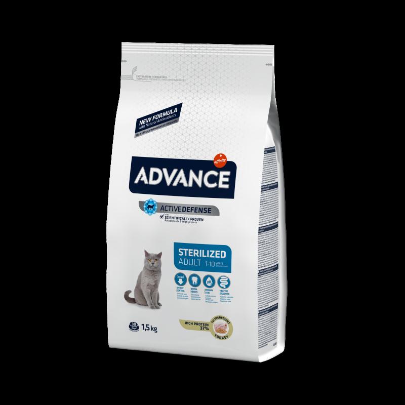 Advance Sterilized Turkey - Адванс корм для кошек стерилизованных с индейкой 15кг