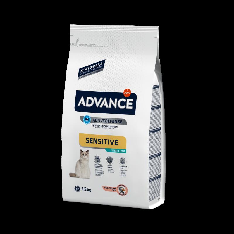 Advance Sterilized Sensitive Salmon - Адванс корм для кошек стерилизованных с лососем 10 кг