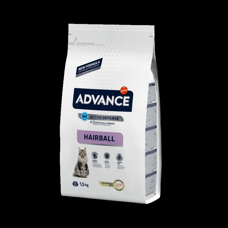 Advance Sterilized Hairball - Адванс корм для кошек стерилизованных для выведения шерсти индейка с рисом 10кг