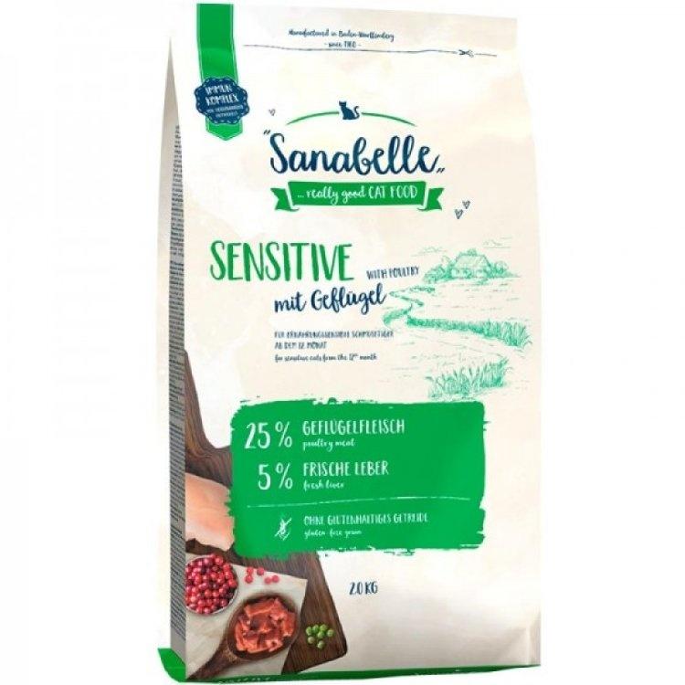 Bosсh Sanabelle Сенситив Корм для взрослых кошек с чувствительным пищеварением с птицей 2 кг