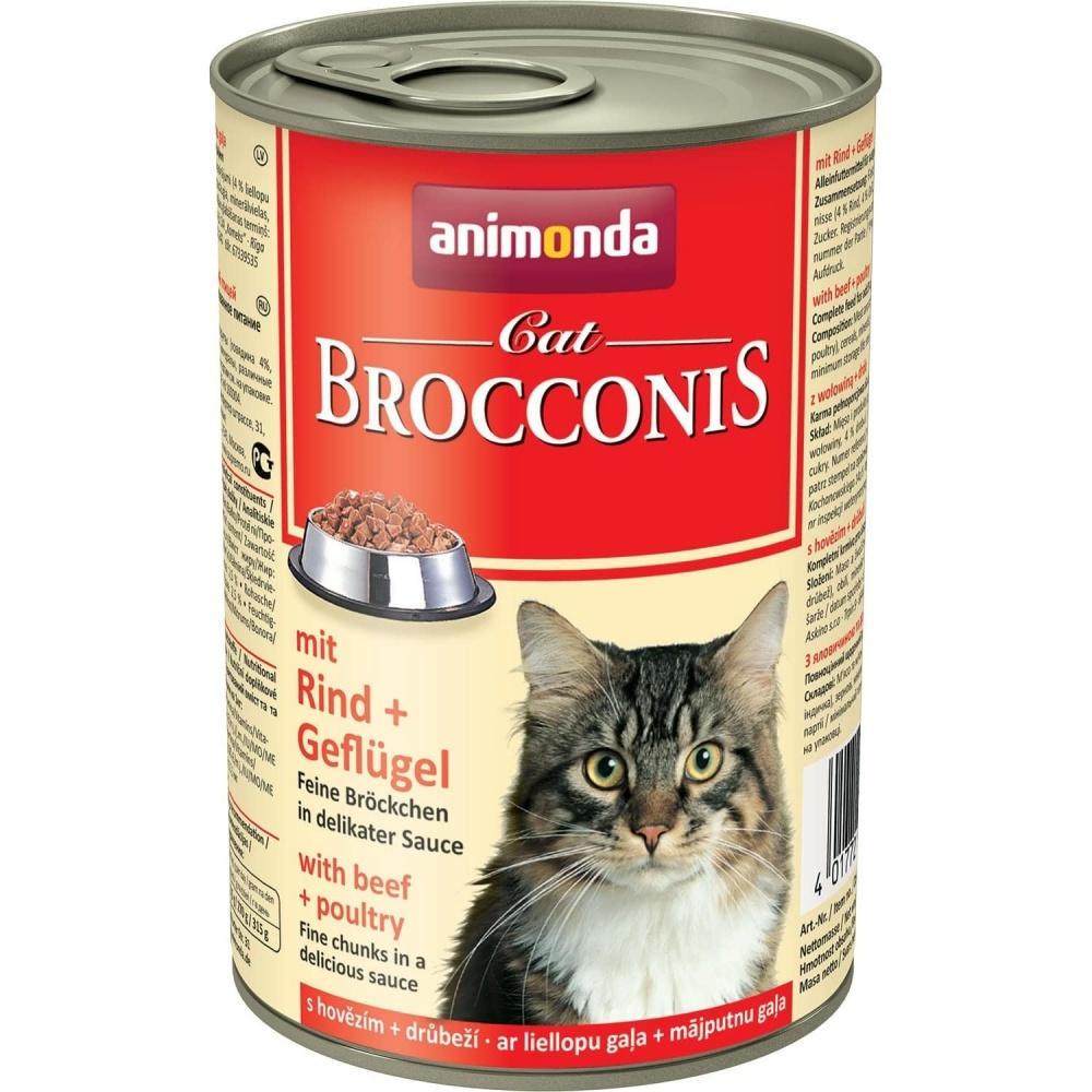 Animonda Brocconis Cat With Beef + Poultry Консервы для кошек с говядиной и домашней птицей 400 гр