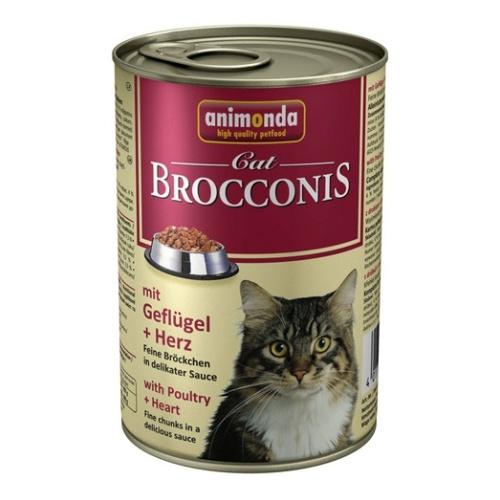 Animonda Brocconis Cat With Poultry + Heart Консервы для кошек с домашней птицей и сердцем 400 гр