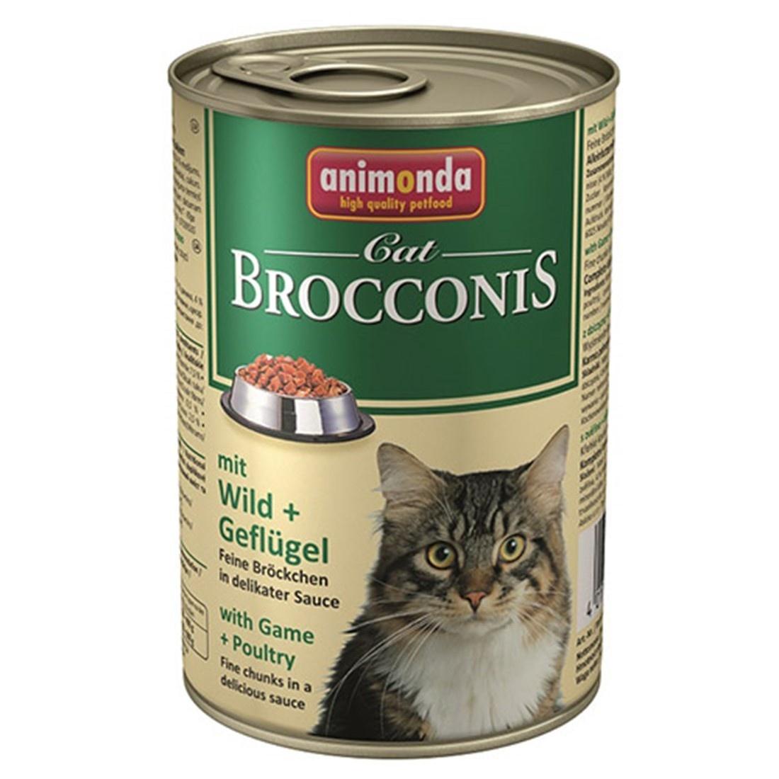 Animonda Brocconis Cat With Game + Poultry Консервы для кошек с дичью и домашней птицей 400 гр
