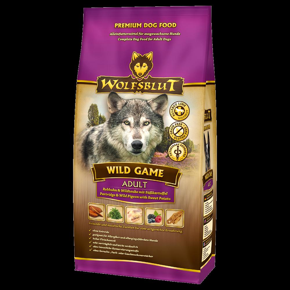 WOLFSBLUT Wild Game - Волчья кровь Страус для взрослых собак 2 кг