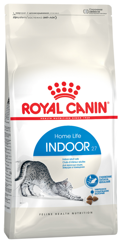 Royal Canin INDOOR 27 - Роял Канин для домашних кошек, 10 кг