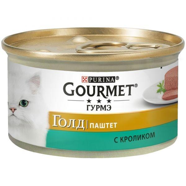Gourmet GOLD - Гурмэ Голд консервы для кошек, паштет с кроликом 85 гр