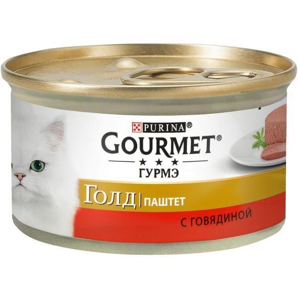 Gourmet GOLD - Гурмэ Голд консервы для кошек, паштет с говядиной 85 гр