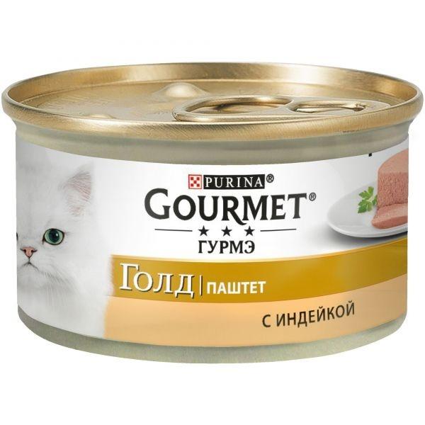 Gourmet GOLD - Гурмэ Голд консервы для кошек, паштет с индейкой 85 гр