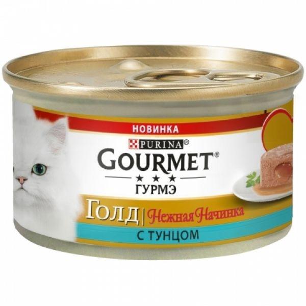 Gourmet GOLD - Гурмэ Голд консервы для кошек, нежная начинка с тунцом 85 гр