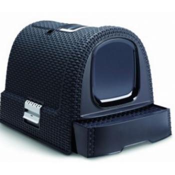 198846 CURVER Туалет-домик для кошек темно-серый 51х39х40см