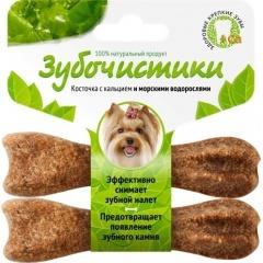 73303761 Зубочистики Лакомство для собак мелких пород со вкусом морских водорослей 2х18 гр