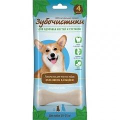 73304003 Зубочистики Лакомство для собак средних пород кальциевые 4 шт/90 гр