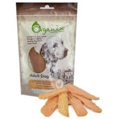 ORGANIX Chicken fillet/slice with calcium Лакомство для собак Куриные ломтики с кальцием 100 гр