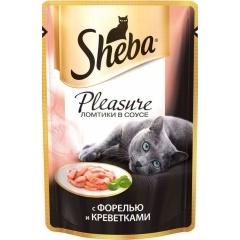 Sheba Pleasure - Шеба Плеже с форелью и креветками, 85 гр (пауч)