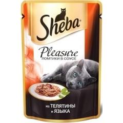 Sheba Pleasure - Шеба Плеже из телятины и языка, 85 гр (пауч)