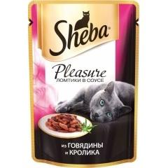 Sheba Pleasure - Шеба Плеже из говядины и кролика, 85 гр (пауч)