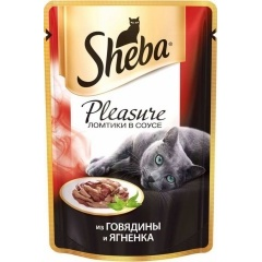 Sheba Pleasure - Шеба Плеже из говядины и ягненка, 85 гр (пауч)