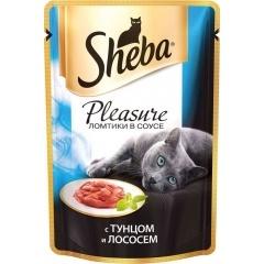 Sheba Pleasure - Шеба Плеже с тунцом и лососем, 85 гр (пауч)