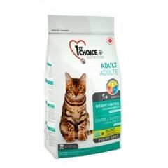 1ST CHOICE Weight Control - Фёст Чойс Контроль Веса корм для кастрированных и стерилизованных кошек с цыпленком