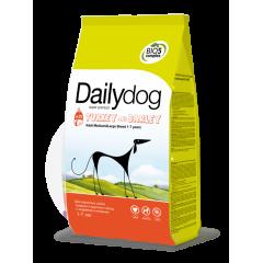 DAILYDOG Adult Large&Medium Breed Turkey and barley ДейлиДог Корм для собак крупных и средних пород с индейкой и ячменем