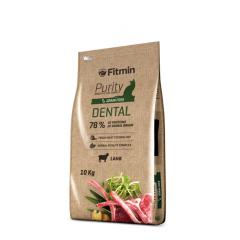 Fitmin Cat Purity Dental - Фитмин Беззерновой корм для поддержания здоровья полости рта у взрослых кошек с ягненком 10 кг
