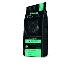 Fitmin сat For Life Castrate - Фитмин корм для взрослых кошек с избыточным весом, кастрированных и стерилизованных кошек 8 кг