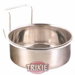 5494 TRIXIE Миска для птиц металлическая 300 мл/95 мм с крепежом