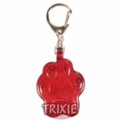 """1334 TRIXIE Брелок """"Лапка"""" мигающий 4,5 см пластиковый красный"""