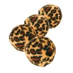 4109 TRIXIE Игрушка для кошек Мячик D3,5 см леопардовый