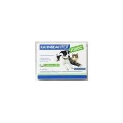 Каниквантел плюс Антигельминтик для собак и кошек 1 таблетка/10 кг