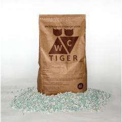 TIGER Тайгер Наполнитель для кошек впитывающий целлюлозное-минеральное волокно крафт 12 л