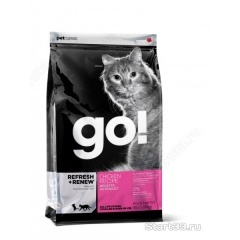 GO! Refresh+Renew ГО Корм для котят и кошек с цельной курицей, фруктами и овощами