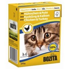Воzita Chicken&Turkey - Бозита Кусочки в соусе для кошек, с курицей и индейкой, 370 г