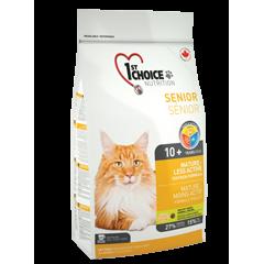 1st CHOICE Senior Mature or Less Active - Фёст Чойс Сеньор корм для пожилых кошек старше 10 лет или малоактивных кошек с цыпленком